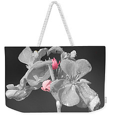 Geranium Weekender Tote Bag by Cindy Manero
