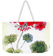 Geranium Weekender Tote Bag