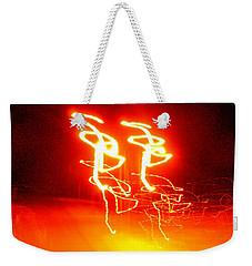 Geranium Lazer Fusion Weekender Tote Bag