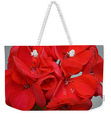 Geranium Red Weekender Tote Bag