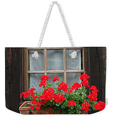 Geraniums In Timber Window Weekender Tote Bag