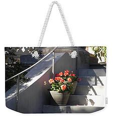 Geraniums Look Better In Beaufort Weekender Tote Bag by Patricia Greer