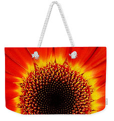 Weekender Tote Bag featuring the photograph Gerbera Daisy by Jim Hughes