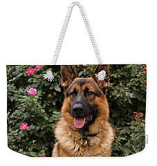 German Shepherd Dog Weekender Tote Bag by Sandy Keeton