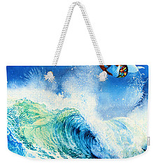 Weekender Tote Bag featuring the painting Getting Air by Hanne Lore Koehler
