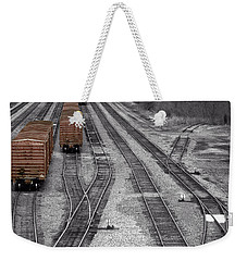 Getting On The Right Track Weekender Tote Bag
