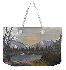 Ghost Bear-the Cascade Grizzly Weekender Tote Bag