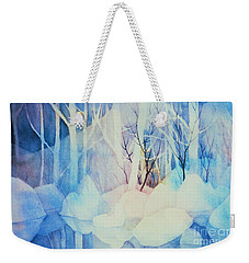 Weekender Tote Bag featuring the painting Ghost Forest by Teresa Ascone