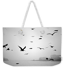 Weekender Tote Bag featuring the photograph Ghost Ship by AJ  Schibig