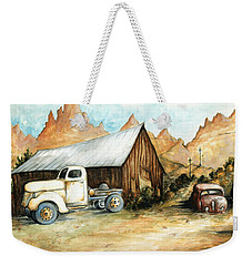 Ghost Town Nevada - Watercolor Art Weekender Tote Bag