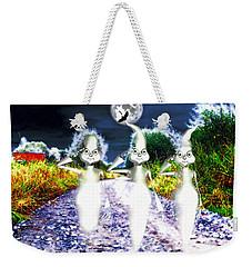 Weekender Tote Bag featuring the digital art Ghosts by Daniel Janda