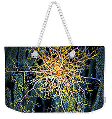 Giant Basket Star At Night Weekender Tote Bag by Amy McDaniel