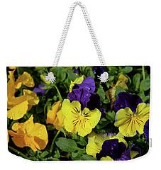 Giant Garden Pansies Weekender Tote Bag