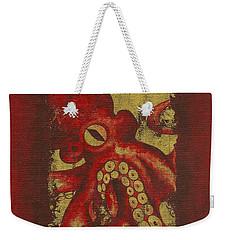 Giant Red Octopus Weekender Tote Bag