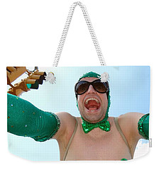 Weekender Tote Bag featuring the photograph Giant Smile by Ed Weidman