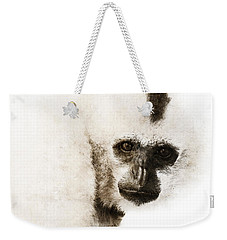Weekender Tote Bag featuring the digital art Crested Gibbon #1 by Nola Lee Kelsey