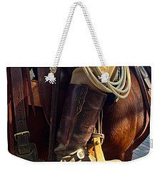 Weekender Tote Bag featuring the photograph Giddyup by Dee Dee  Whittle