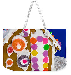 Weekender Tote Bag featuring the photograph Gingerbread House by Vizual Studio