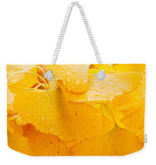 Weekender Tote Bag featuring the photograph Ginkgo Biloba Leaves by Vizual Studio