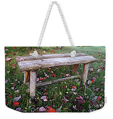 Ginny's Bench Weekender Tote Bag by Kerri Mortenson