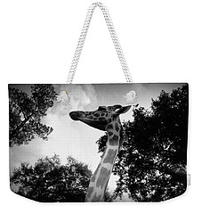 Giraffe Bw - Global Wildlife Center Weekender Tote Bag