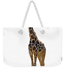 Weekender Tote Bag featuring the photograph Giraffe by Charles Beeler