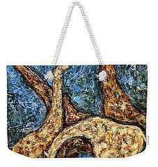 Giraffe Family Weekender Tote Bag by Xueling Zou