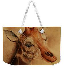 Giraffe Weekender Tote Bag by Jean Cormier