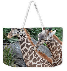 Giraffe Massage Weekender Tote Bag