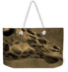 Giraffe Portait Weekender Tote Bag by Dan Sproul