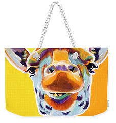 Giraffe - Sunflower Weekender Tote Bag