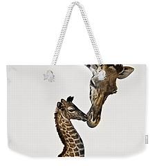 Giraffe's First Kiss Weekender Tote Bag