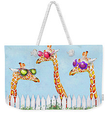Giraffes In Sunglasses Weekender Tote Bag by Jane Schnetlage