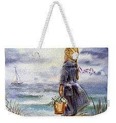 Girl And The Ocean Weekender Tote Bag