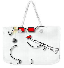 Weekender Tote Bag featuring the digital art Girl Clarinet Player by Marvin Blaine