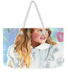 Girl In A White Lace Dress  Weekender Tote Bag by Greta Corens