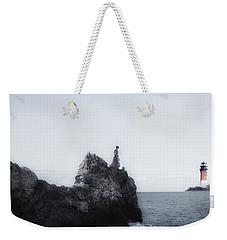 Girl On Cliffs Weekender Tote Bag