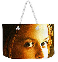 Weekender Tote Bag featuring the painting Girl Sans by Richard Thomas