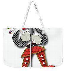 Weekender Tote Bag featuring the digital art Girl Singer Dress by Marvin Blaine