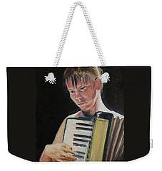 Girl With Accordion Weekender Tote Bag