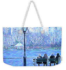 Girls At Pond In Central Park Weekender Tote Bag