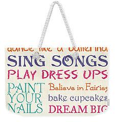 Girls Rules Weekender Tote Bag