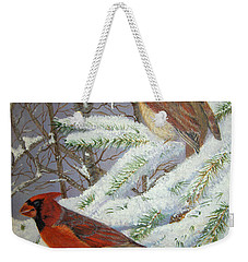 Weekender Tote Bag featuring the painting Give Her Wings To Fly by Brenda Brown