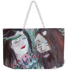 Weekender Tote Bag featuring the painting Give Peace A Chance by Judith Desrosiers