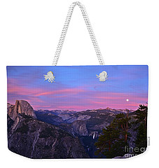 Glacier Point With Sunset And Moonrise Weekender Tote Bag