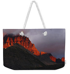 Weekender Tote Bag featuring the photograph Glacier Sunrise by Alan Socolik