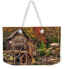 Glade Creek Grist Mill-1a Babcock State Park Wv Autumn Late Afternoon Weekender Tote Bag