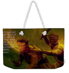 Weekender Tote Bag featuring the photograph Gladiator  by Brian Reaves