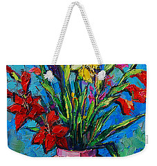 Gladioli In A Vase Weekender Tote Bag