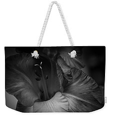 Weekender Tote Bag featuring the photograph Gladiolus Morning by Ben Shields